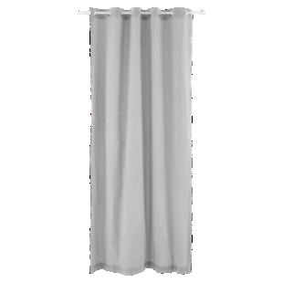 FLY-rideau fines rayures coton 140x240 ivoire/noir