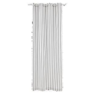 FLY-rideau grandes rayures coton 140x240 ivoire/noir