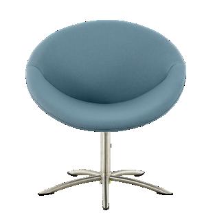 FLY-fauteuil tissu vert / pieds metal