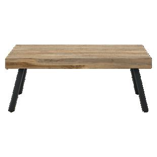 FLY-table basse rectangulaire bois / metal noir
