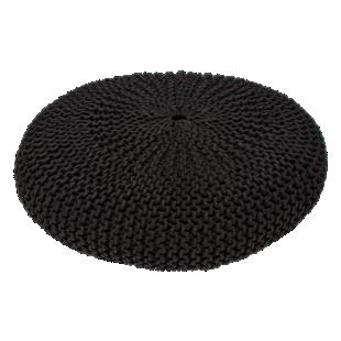 FLY-pouf maille coton coloris gris anthracite h16cm