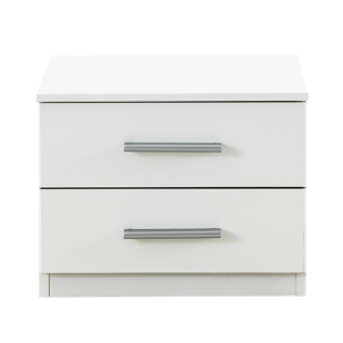 FLY-chevet 2 tiroirs blanc