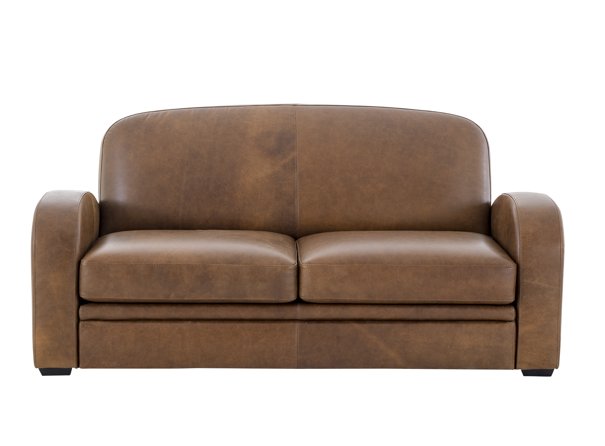 Canape 2 places cuir vieilli marron fly - Canape simili cuir marron ...