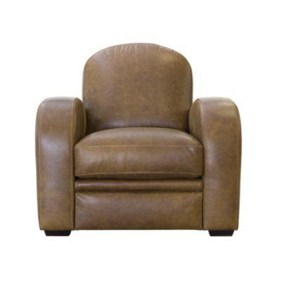 great cuir vieiili marron with fauteuil pello. Black Bedroom Furniture Sets. Home Design Ideas