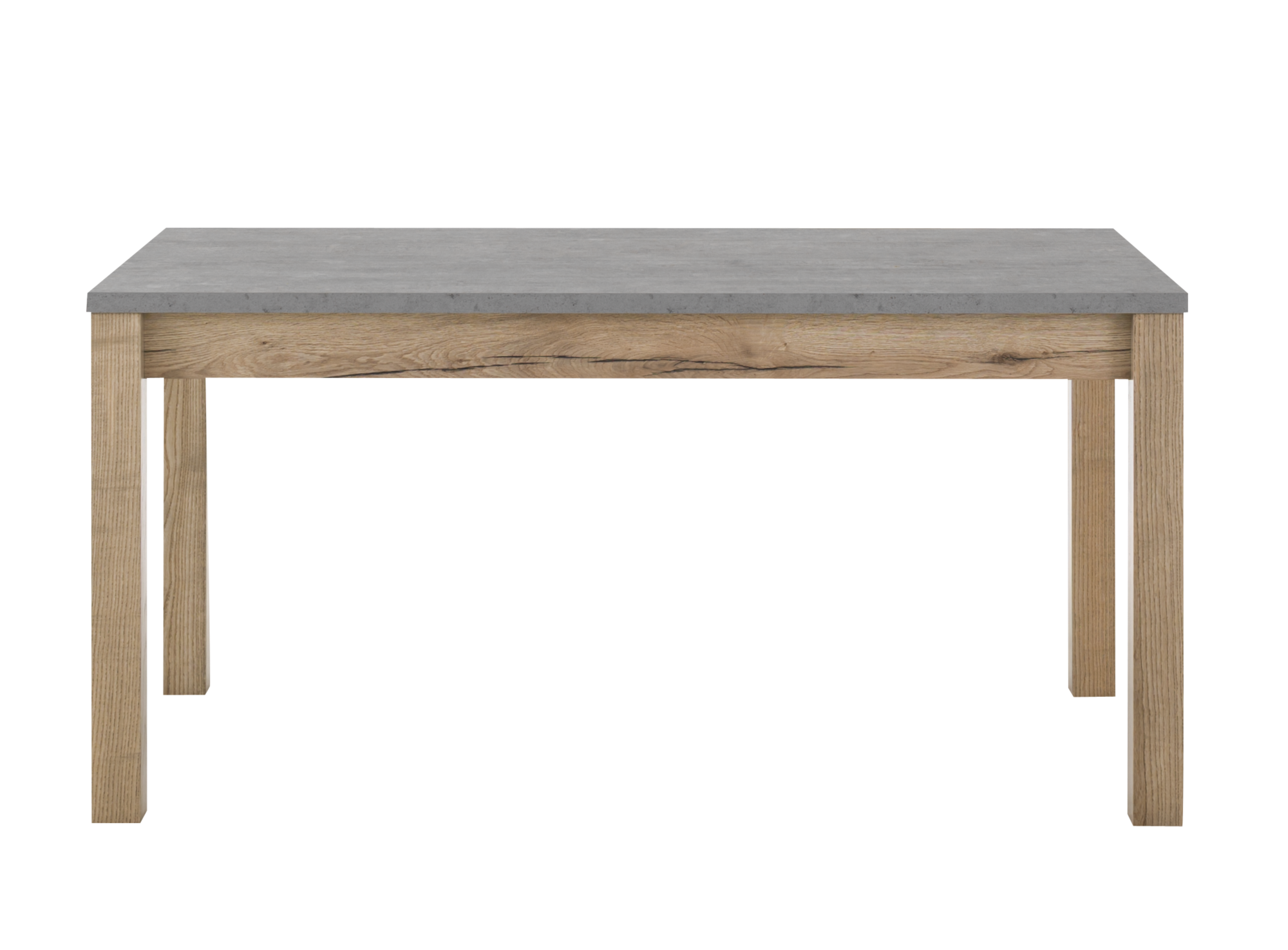 Table rectangulaire avec allonge gris bois fly Table rectangulaire bois avec allonges