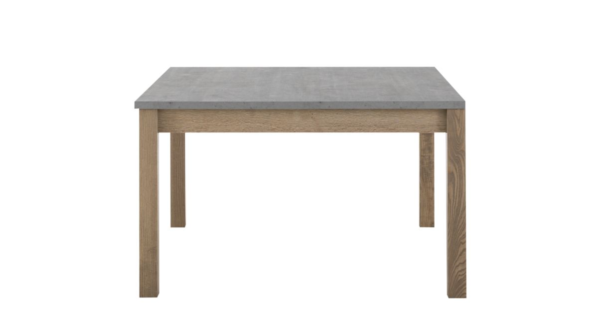 Table carree avec allonge gris bois fly for Table sejour avec rallonge