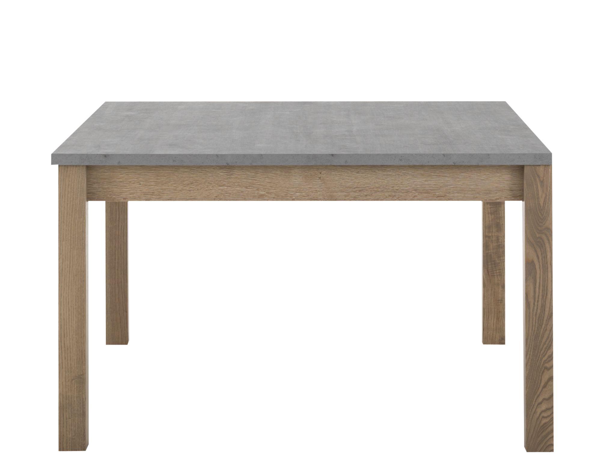 table carree avec allonge gris/bois | fly