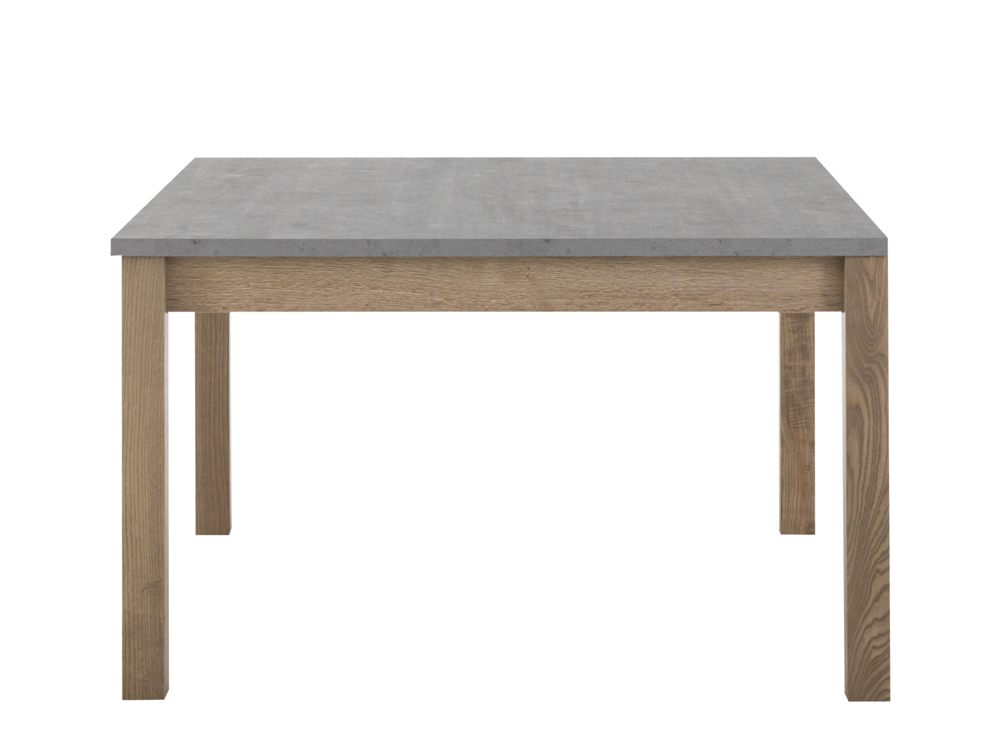 Table carree avec allonge gris bois fly for Table de sejour carree