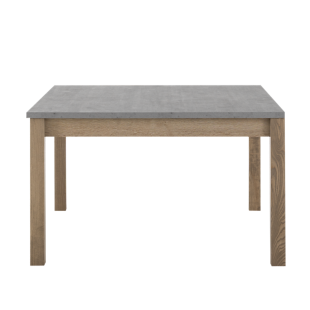 FLY-table carree avec allonge gris/bois