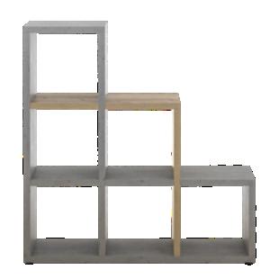 FLY-etagere escalier beton/bois