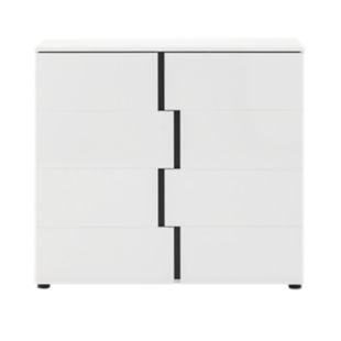 FLY-rangement 2 portes blanc/gris