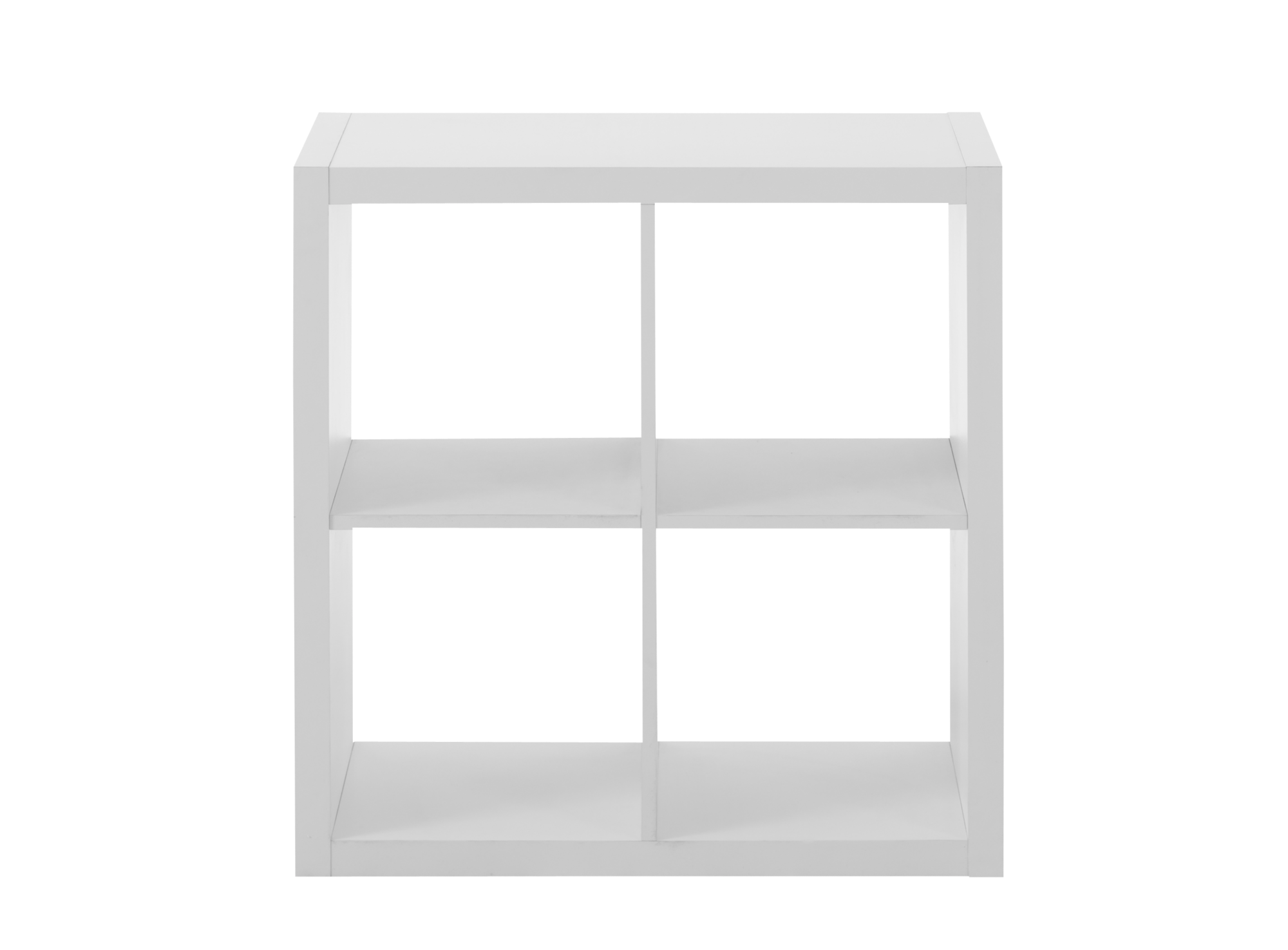 Etagere 2x2 cases en panneau alveole finition decor papier coloris bl ...