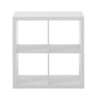 FLY-etagere 2x2 niches blanche