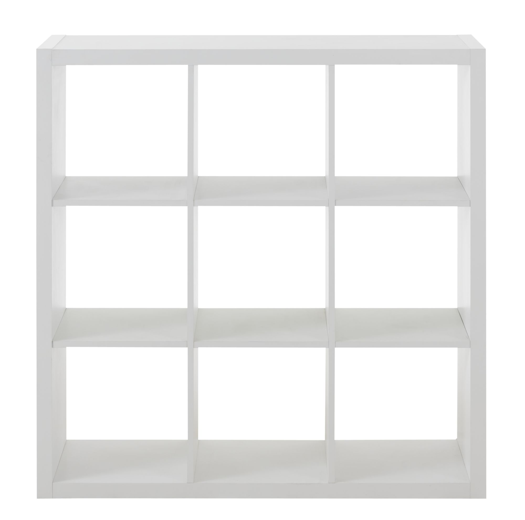 Etagere 3x3 Niches Blanche | Fly