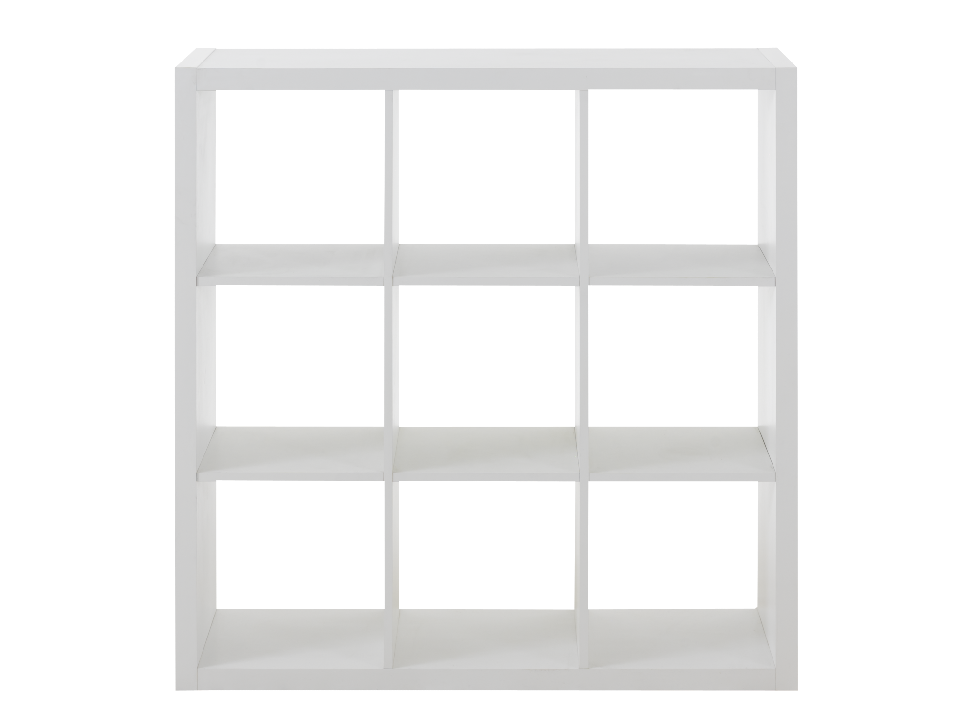etagere 3x3 niches blanche fly. Black Bedroom Furniture Sets. Home Design Ideas