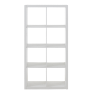 FLY-etagere 2x4 niches blanche