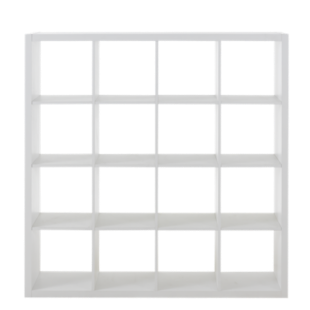 FLY-etagere 4x4 niches blanche