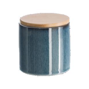 FLY-boite bleu h11cm couvercle bambou