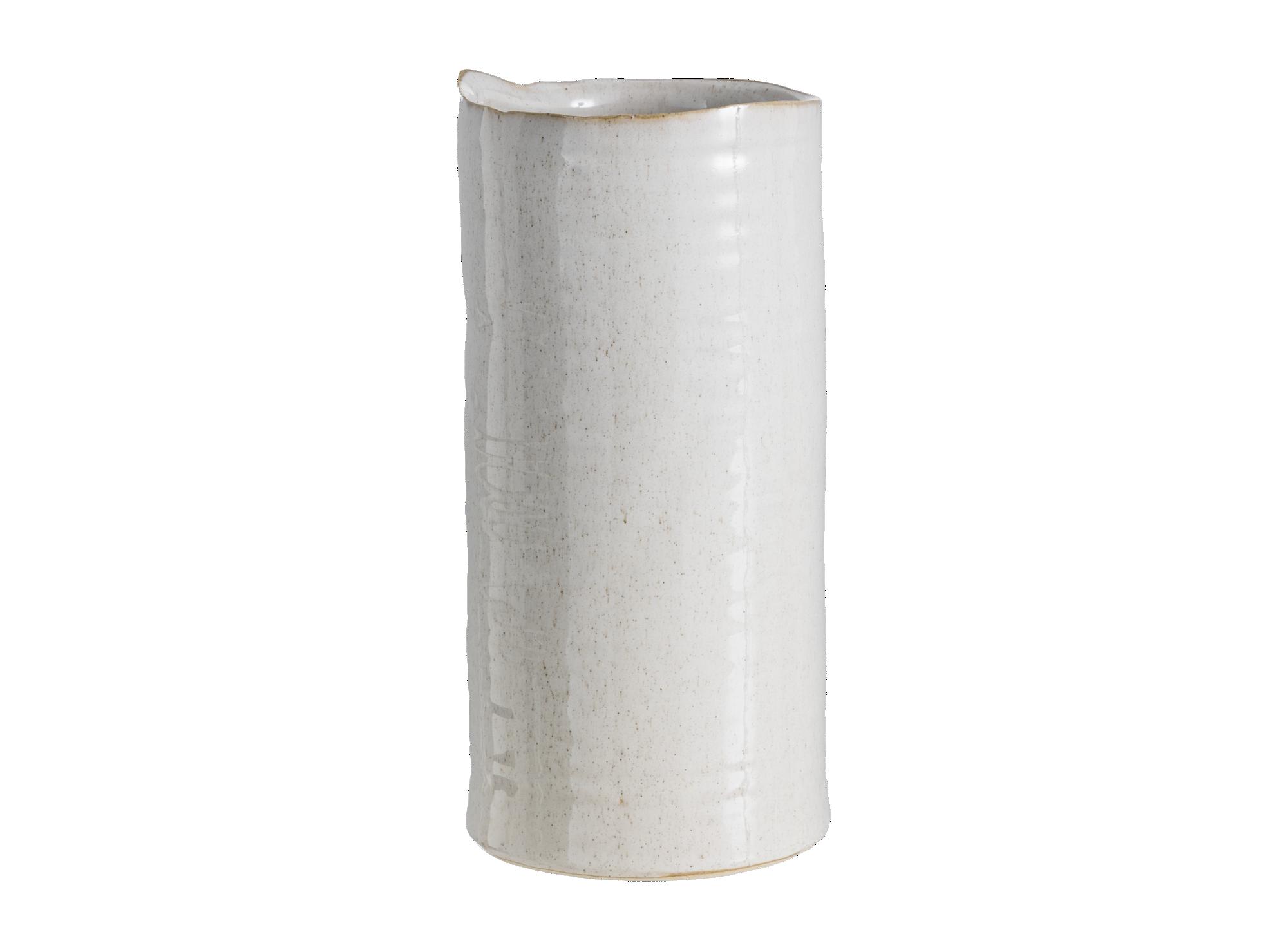 Vase en ceramique h23cm -  coloris beige