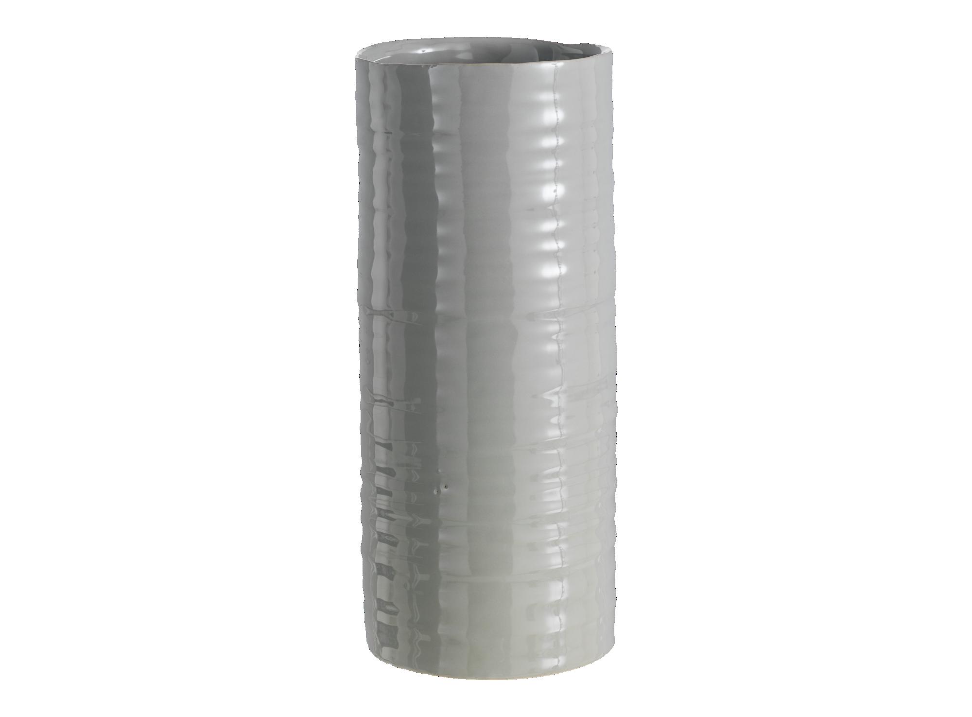Vase h30.7cm en ceramique - coloris gris