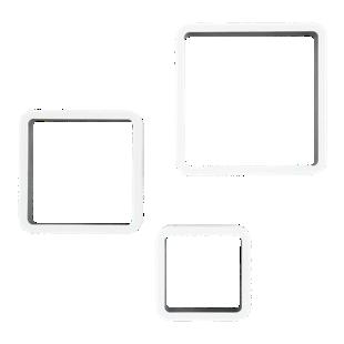 FLY-set de 3 etageres blanc