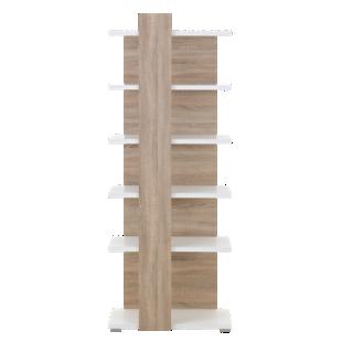 FLY-etagere h193 cm blanc/sonoma