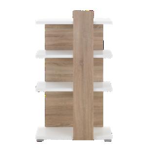 FLY-etagere h128 cm blanc/sonoma
