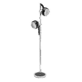 FLY-lampadaire 2 lampes d25 noir/chrome