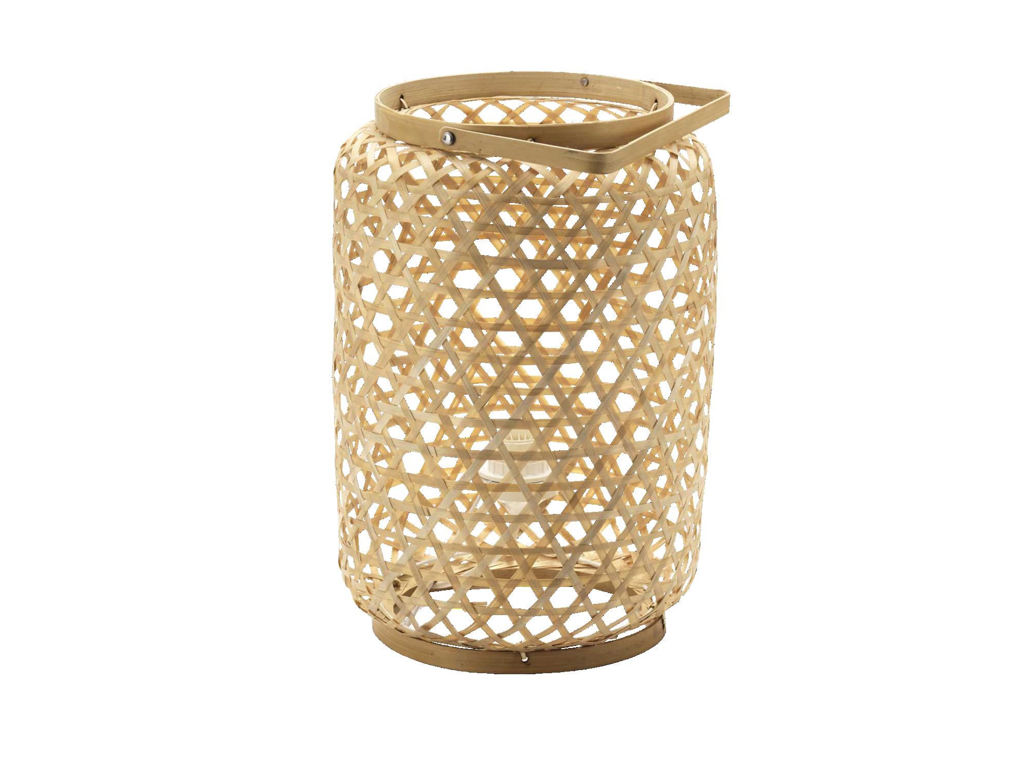 Lanterne artisanale en bambou tresse coloris naturel  vendue avec ele ...