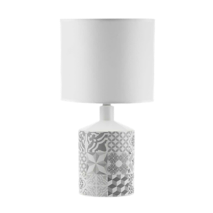 FLY-lampe a poser h40 blanc/gris