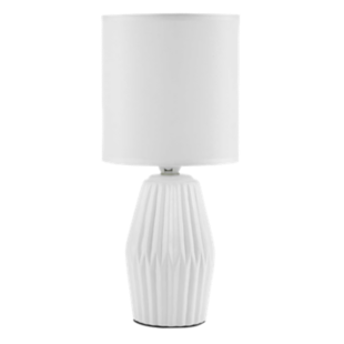 FLY-lampe a poser ceramique h33 blanc