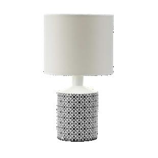 FLY-lampe a poser ceramique h40 blanc/noir
