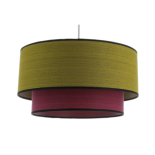 FLY-suspension d38 moutarde/fushia