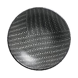 FLY-assiette creuse d19cm noir