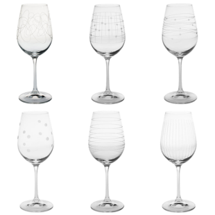 FLY-lot de 6 verres a pied graves