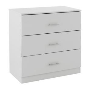 FLY-commode 3 tiroirs blanc