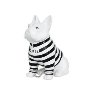 FLY-deco chien bagnard h22cm noir/blanc