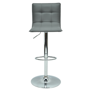 FLY-tabouret de bar chrome/gris
