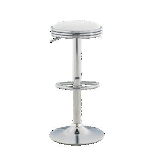 FLY-tabouret de bar chrome/blanc