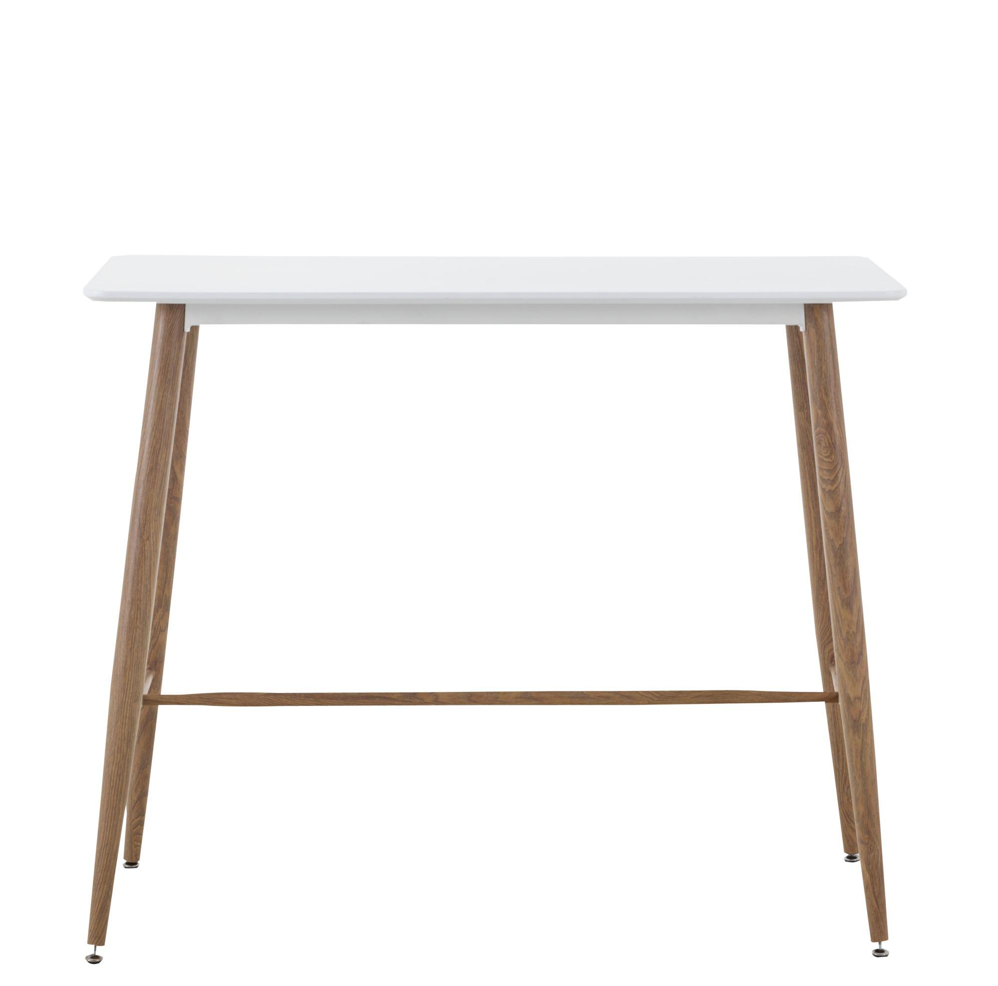 table haute bois/blanc | fly