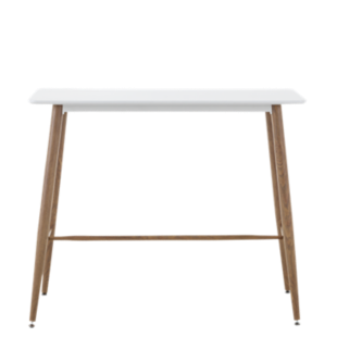 FLY-table haute bois/blanc