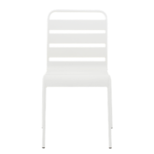FLY-chaise en metal blanc graine