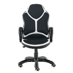FLY-fauteuil de bureau noir/blanc