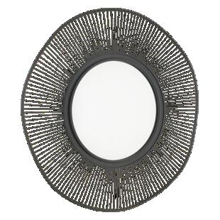 FLY-miroir d93cm cadre metal noir