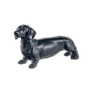 FLY-deco chien h14,5cm noir