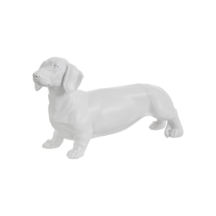 FLY-deco chien h14,5cm blanc