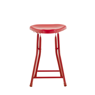 FLY-tabouret pliant rouge brillant