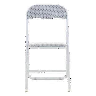 FLY-chaise pliante blanche/motif