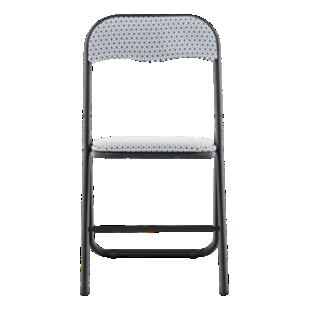FLY-chaise pliante noir/motif