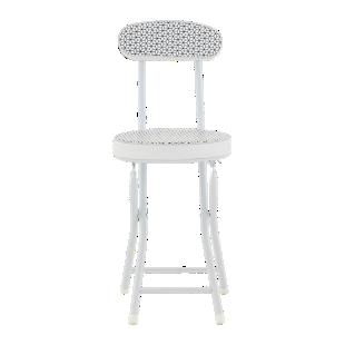 FLY-chaise pliante blanc/ motif